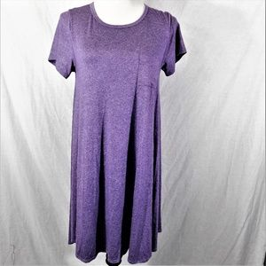 Lularoe Carly Marled Light Purple Dress Size XS